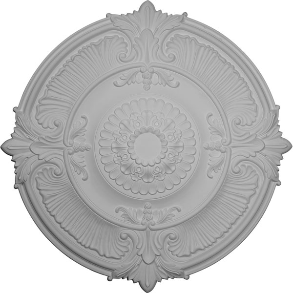 "53 1/2""OD x 3 1/2""P Attica Acanthus Leaf Ceiling Medallion (Fits Canopies up to 4 5/8"")"