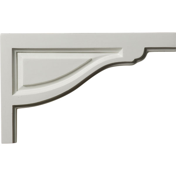 "11 3/4""W x 7 3/8""H x 1/2""D Large Traditional Stair Bracket, Right"