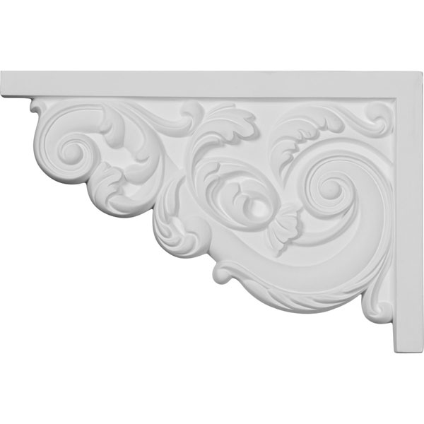 "11 3/8""W x 7 5/8""H x 5/8""D Large Ashford Stair Bracket, Left"