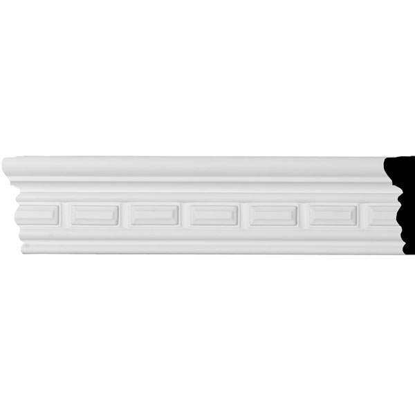 "2 5/8""H x  3/4""P x 94 1/2""L Norwich Dentil Panel Moulding"