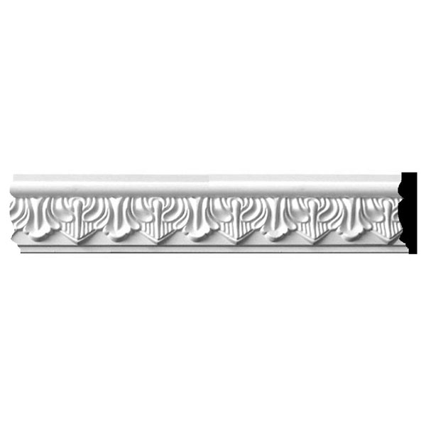 "SAMPLE - 2 3/4""H x 5/8""P x 12""L Tirana Acanthus Leaf Panel Moulding"