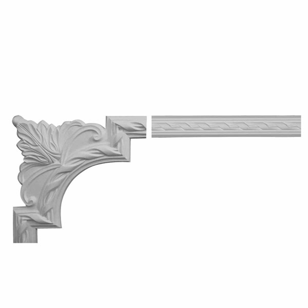 "2""H x 3/4""P x 94 1/2""L Valeriano Ribbon Panel Moulding Collection"