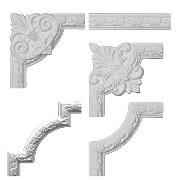 "2""H x 3/4""P x 94 1/2""L Milton Running Leaf Panel Moulding Collection"