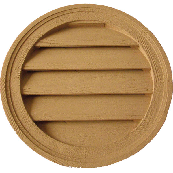 "ROUND LOUVER, Functional Stainable 18"" Diameter"