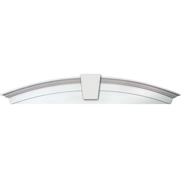 "WINDOW CROSSHEAD ARCH SOLID, 72"" X 13"" WITH KEYSTONE"