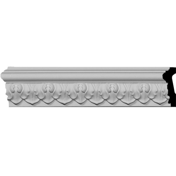 "1 7/8""H x 3/4""P x 94 1/2""L Blackthorne Acanthus Leaf Chair Rail Moulding"