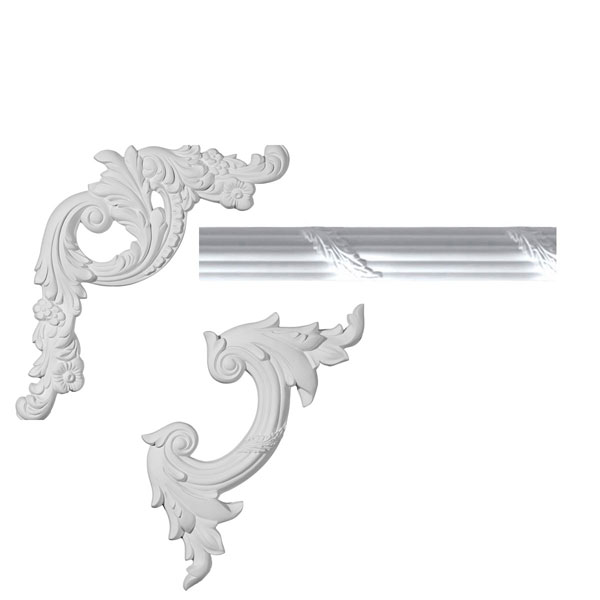 "1 3/4""H x 3/4""P x 96""L Tirana Panel Moulding Collection"