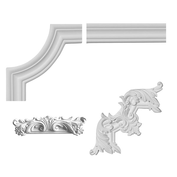 "2""H x 5/8""P x 94 1/2""L Oxford Panel Moulding Collection"