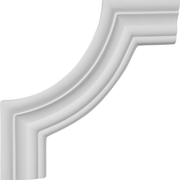 "8 1/2""W x 8 1/2""H Oxford Panel Moulding Corner (matches moulding PML02X00OX)"