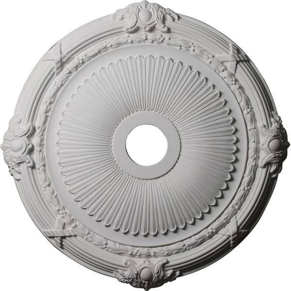 "27 1/2""OD x 3 7/8""ID x 2 1/4""P Heaton Ceiling Medallion (Fits Canopies up to 6 1/2"")"
