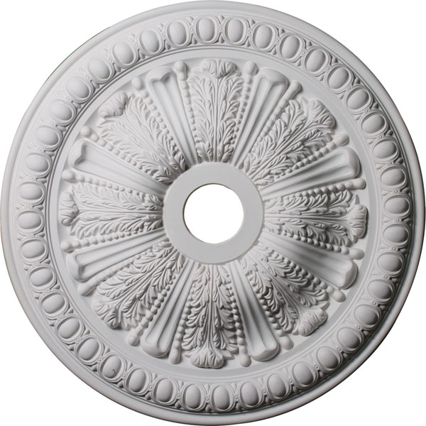 "27 7/8""OD x 3 7/8""ID x 2 1/2""P Tomango Egg & Dart Ceiling Medallion (Fits Canopies up to 6 3/4"")"
