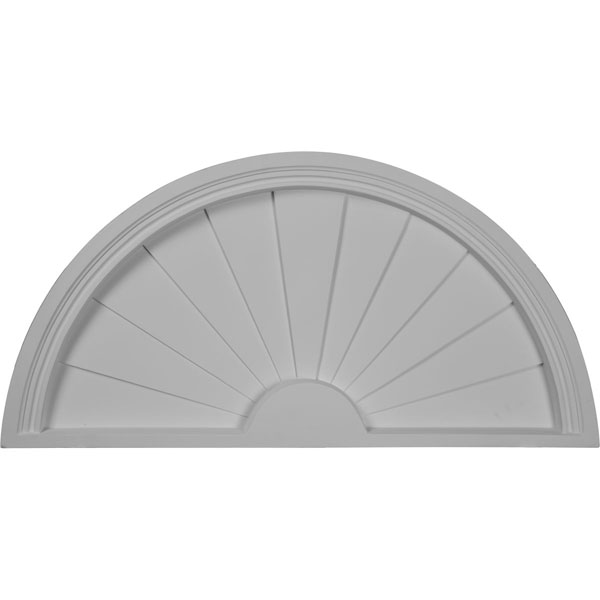 Half Round Sunburst Pediment