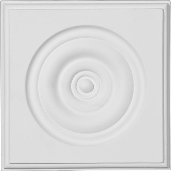 "5 3/4""W x 5 3/4""H x 1 1/8""P Traditional Bullseye Plinth Block"