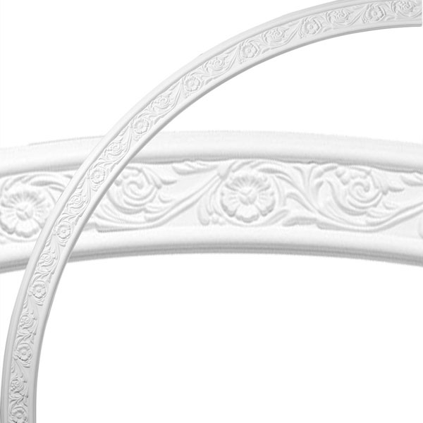 "74 3/4""OD x 68 1/2""ID x 3 1/8""W x 1/2""P Medway Floral Ceiling Ring (1/4 of complete circle)"