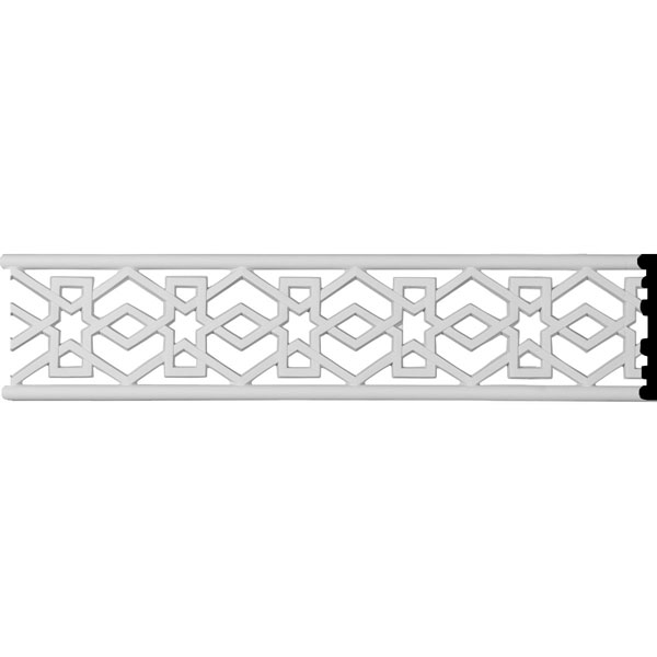 "4""H x 3/8""P x 94 1/2""L Swindon Pierced Moulding"