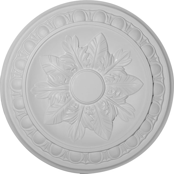 "17 3/4""OD x 1 1/8""P Exeter Ceiling Medallion (Fits Canopies up to 3 1/8"")"
