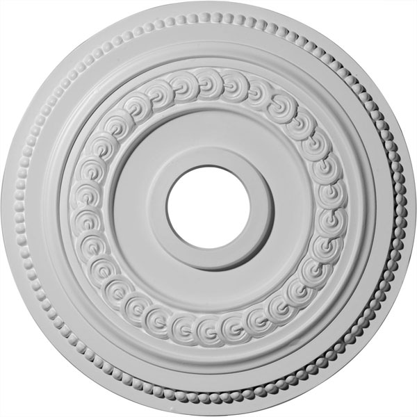"18""OD x 3 3/8""ID x 7/8""P Oldham Ceiling Medallion (Fits Canopies up to 8 5/8"")"