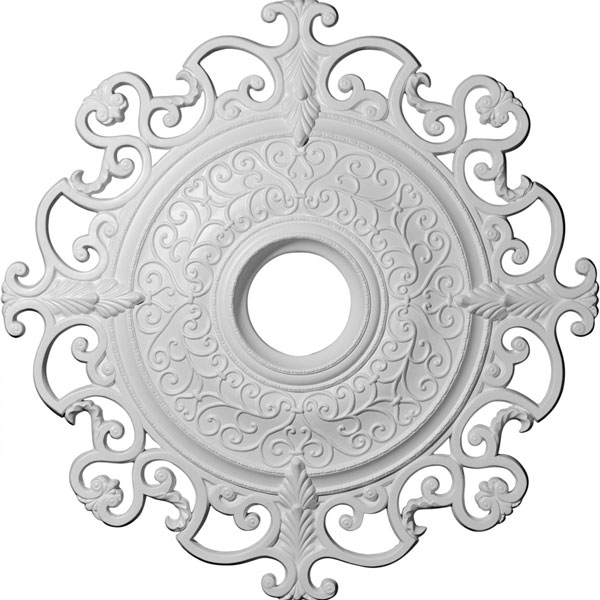 "38 3/8""OD x 6 5/8""ID x 2 7/8""P Orleans Ceiling Medallion (Fits Canopies up to 8 1/4"")"