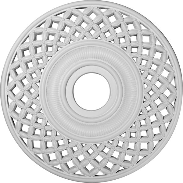 """22 1/4""""OD x 4 3/4""""ID x 1 1/4""""P Robin Ceiling Medallion (Fits Canopies up to 6 1/4"""")"""