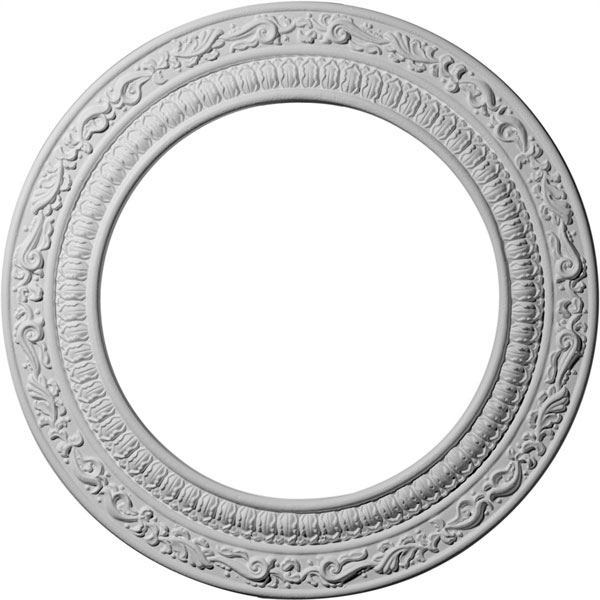 "12""OD x 8""ID x 1/2""P Andrea Ceiling Medallion (Fits Canopies up to 8"")"