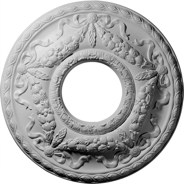 "22 1/8""OD x 7 1/4""ID x 1 3/4""P Hurley Ceiling Medallion (Fits Canopies up to 7 1/4"")"