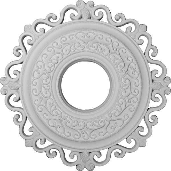 "22""OD x 6 1/4""ID x 1 3/4""P Orrington Ceiling Medallion (Fits Canopies up to 6 1/4"")"