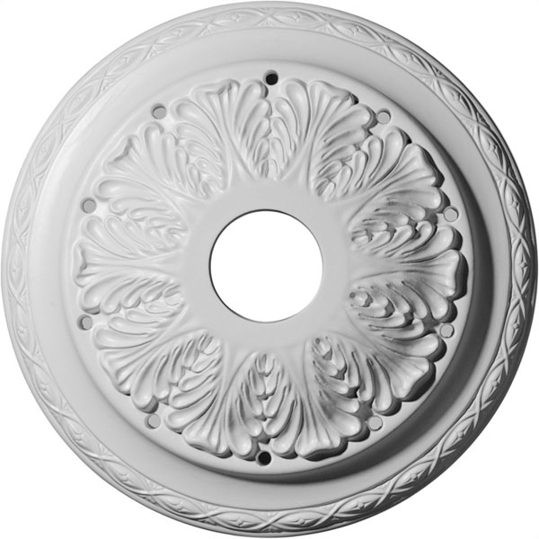 "13 3/4""OD x 2 3/4""ID x 3""P Asa Ceiling Medallion (Fits Canopies up to 4 1/2"")"