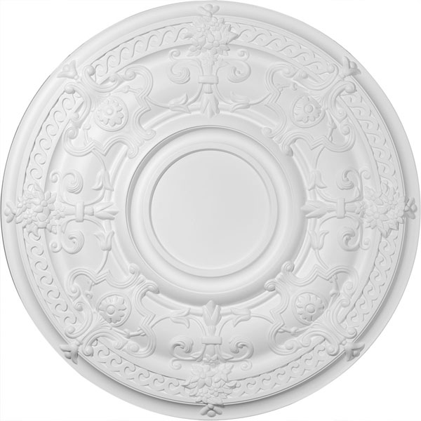 "33 7/8""OD x 1 3/8""P Dauphine Ceiling Medallion (Fits Canopies up to 13 1/4"")"