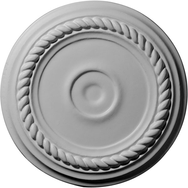 "7 7/8""OD x 3/4""P Small Alexandria Ceiling Medallion (Fits Canopies up to 4 5/8"")"