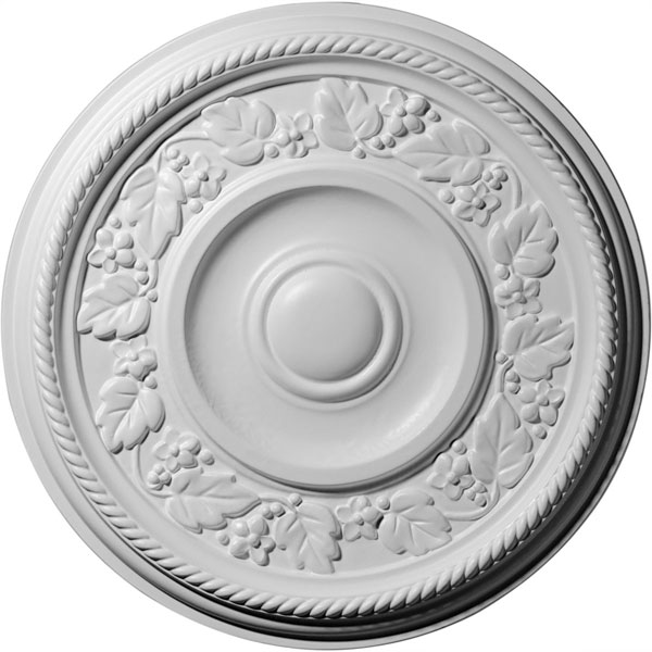 "16 1/8""OD x 3/4""P Tyrone Ceiling Medallion (Fits Canopies up to 6 3/4"")"