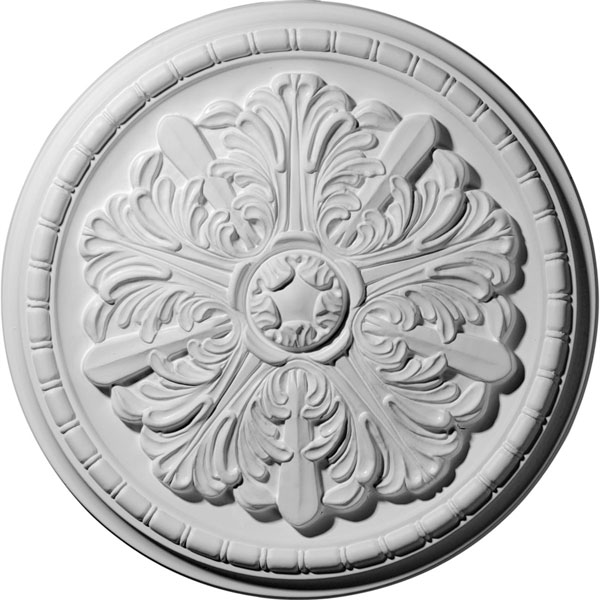 "17 1/8""OD x 1 1/2""P Washington Ceiling Medallion (Fits Canopies up to 2 7/8"")"