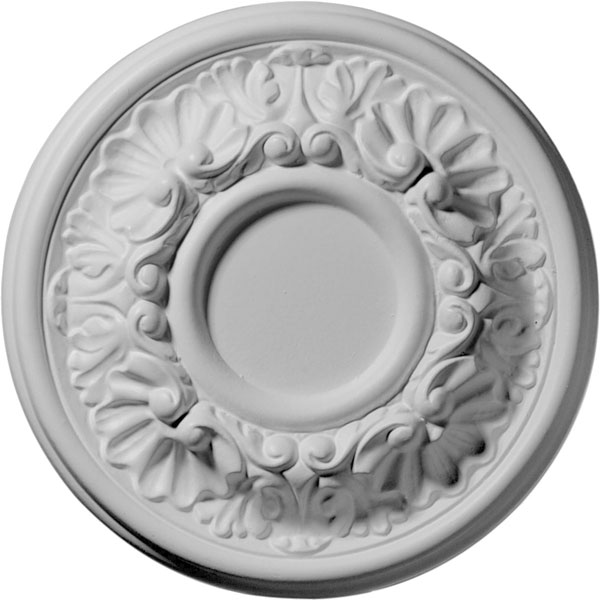 "7 1/2""OD x 1 1/8""P Odessa Ceiling Medallion (Fits Canopies up to 2 1/2"")"