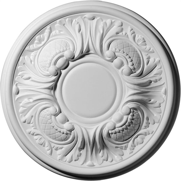 "11 3/4""OD x 1 1/4""P Wakefield Ceiling Medallion (Fits Canopies up to 3 5/8"")"