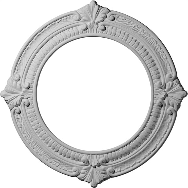 "13 1/8""OD x 8""ID x 5/8""P Benson Ceiling Medallion (Fits Canopies up to 8"")"