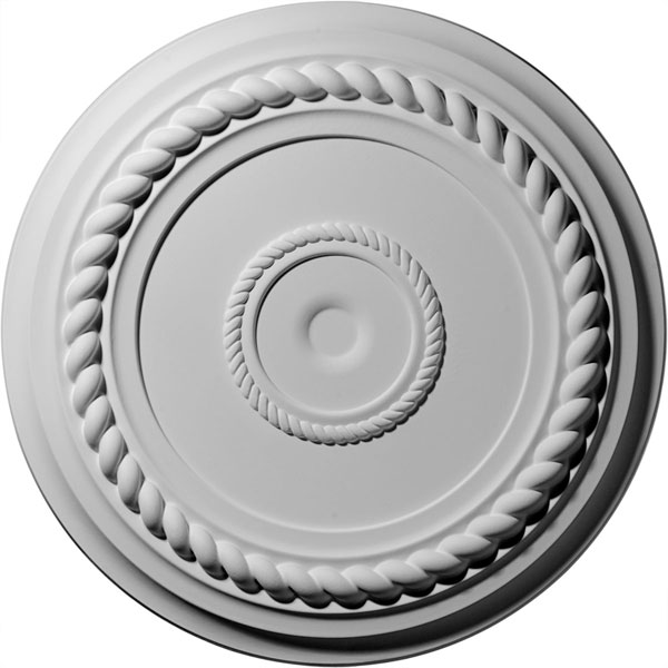 "19 5/8""OD x 1 1/2""P Alexandria Rope Ceiling Medallion (Fits Canopies up to 4 5/8"")"