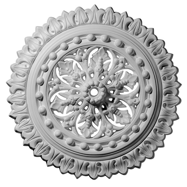 "18 1/2""OD x 7/8""ID x 1 1/2""P Sellek Ceiling Medallion (Fits Canopies up to 1 1/8"")"