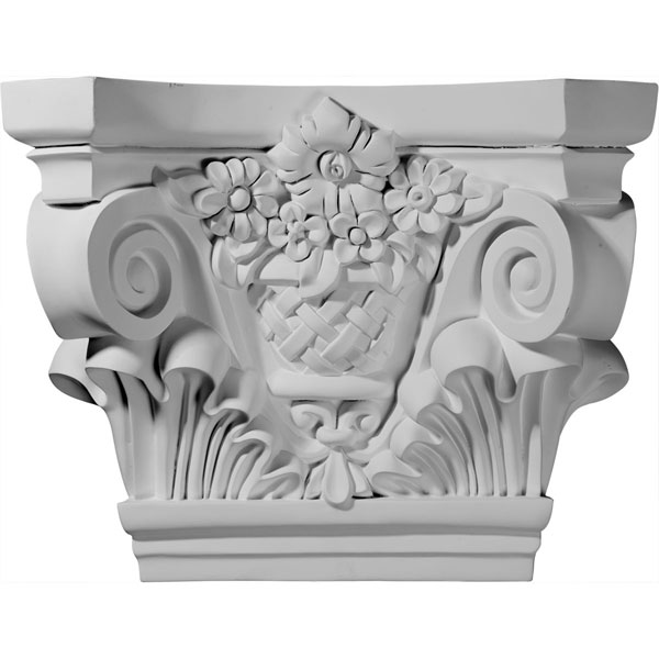 "21 5/8""W x 7 1/2""D x 16 3/4""H Sussex Capital (Fits Pilasters up to 13 1/2""W x 1 5/8""D)"