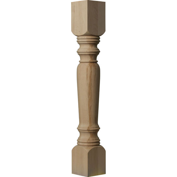 "5""W x 5""D x 35 1/2""H Legacy Tapered Cabinet Column (Top Block: 6"", Bottom Block: 7"")"