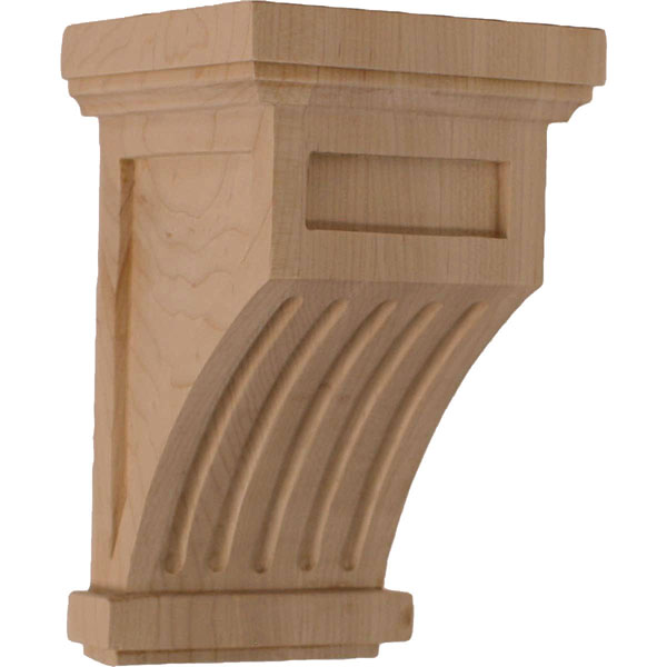 "4 1/4""W x 4 1/4""D x 7""H Fluted Corbel"