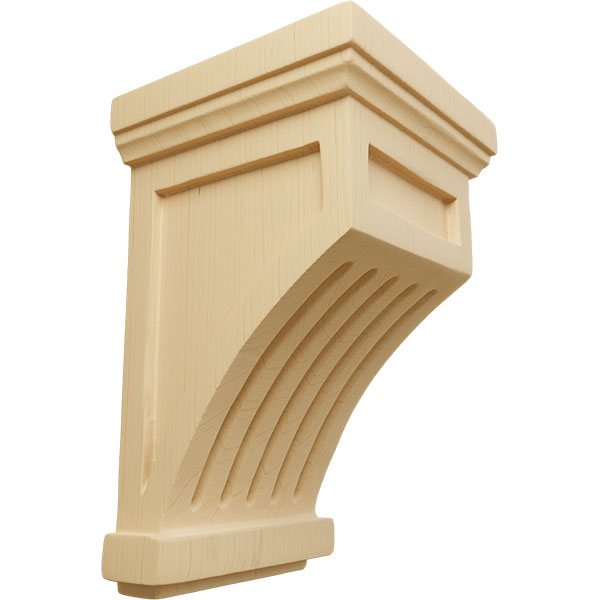 Fluted Wood Corbel