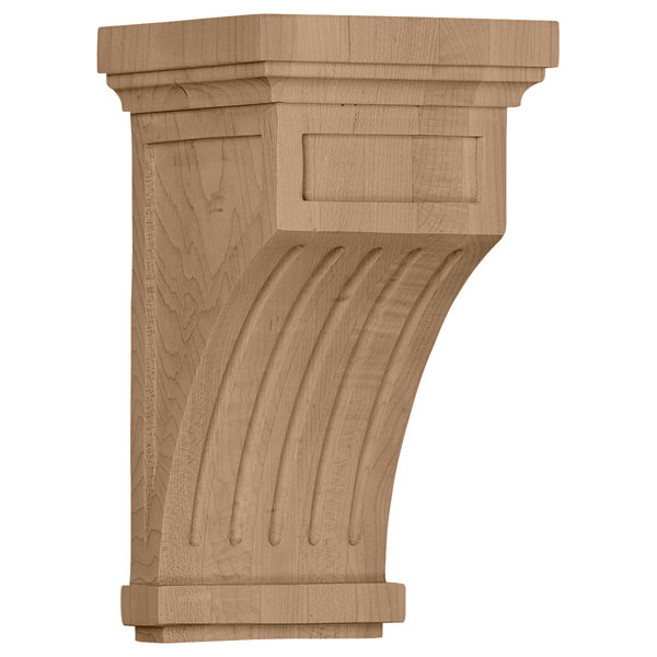 "5 1/2""W x 5 1/2""D x 10""H Fluted Corbel"