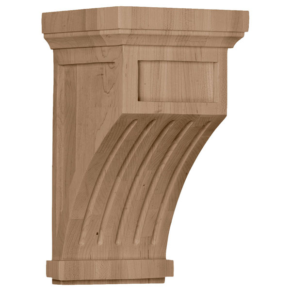 "7""W x 7 1/2""D x 13""H Fluted Corbel"