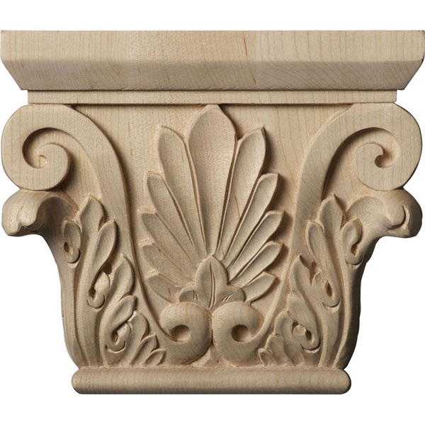 "6 1/2""W x 4 3/8""BW x 2 1/2""D x 5 1/2""H Small Chesterfield Capital (Fits Pilasters up to 3 7/8""W x 1""D)"