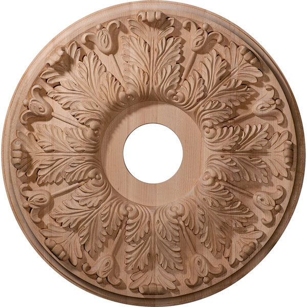 "20""OD x 3 7/8""ID x 1 3/4""P Carved Florentine Ceiling Medallion (Fits Canopies up to 6 3/4"")"