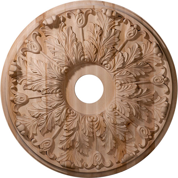 "24""OD x 3 7/8""ID x 2 1/4""P Carved Florentine Ceiling Medallion (Fits Canopies up to 7"")"