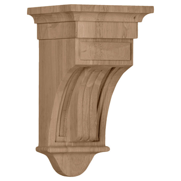 "6 1/2""W x 6 1/2""D x 12""H Raised Fluting Corbel"