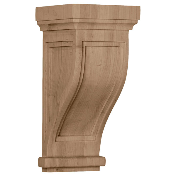 "6 1/2""W x 6 1/2""D x 14""H Traditional Recessed Corbel"