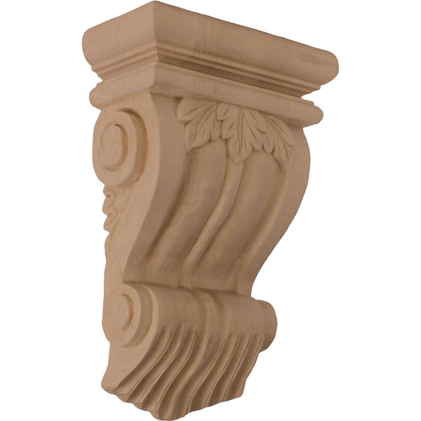 "7""W x 3 1/2""D x 11""H Traditional Leaf Corbel"