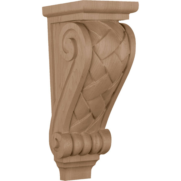 "6 3/4""W x 7 7/8""D x  22""H, Extra Large Basket Weave Corbel"
