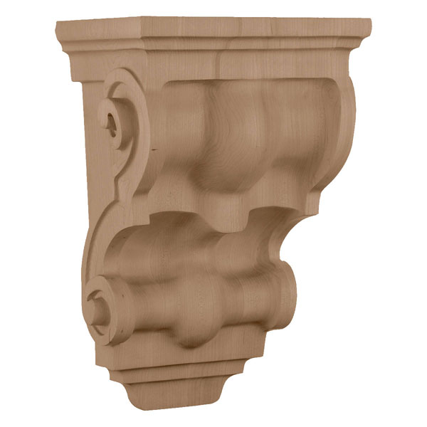 "8 1/2""W x 6 1/2""D x 14 1/4""H, Wide Traditional Corbel"